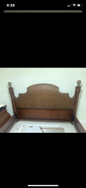 King size bed frame and 2 matching dressers! Also 1- 3 draw dresser. All 3 have marble top. These pieces are like new!! No marks at all!! for Sale in Fort Lauderdale, FL