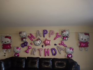 Hello Kitty birthday party decorations for Sale in Cromwell, CT