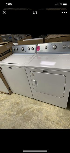 """Set top load Maytag agitator commercial heavy duty white w 29"""" GAS for Sale in City of Industry, CA"""