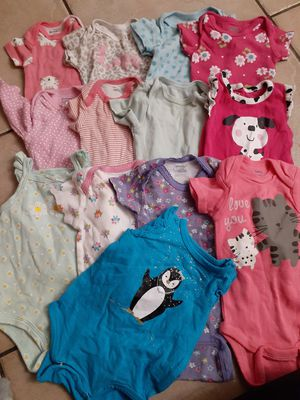 Girls Size 0-3 Months onesies, Shirts, Pants and Sets for Sale in Gilbert, AZ