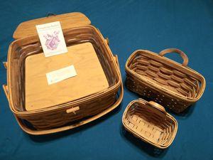 3 longaberger baskets for Sale in El Mirage, AZ