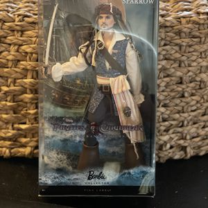Barbie Captain Jack Sparrow collector pink label pirates of the Caribbean on stranger tides Disney doll Johnny Depp for Sale in Santee, CA