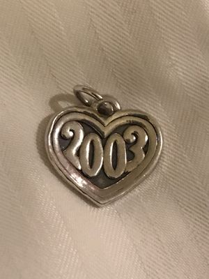 Retired James Avery 2003 Silver Heart Charm for Sale in Kirby, TX
