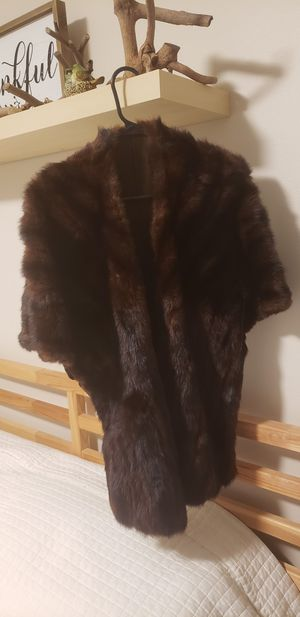 Real fur vest/cardigan. for Sale in Tacoma, WA