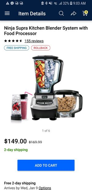 Ninja Supra Kitchen Blender w/ food processor for Sale in Saint Charles, MO