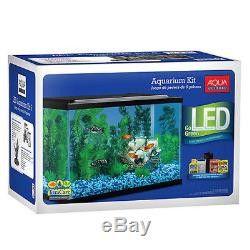 Aquarium Starter Kit Fish Tank 10 Gallon Led Light Aqua Culture Filter Terrarium for Sale in Turlock, CA