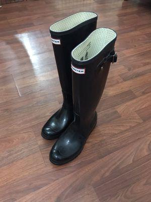 Hunter rain boots original gloss size 9 woman for Sale in Santa Ana, CA