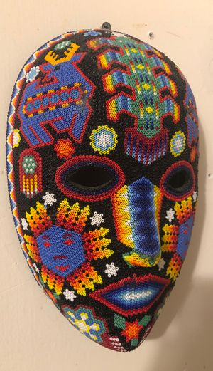 Huichol Beaded Peyote mask for Sale in Efland, NC