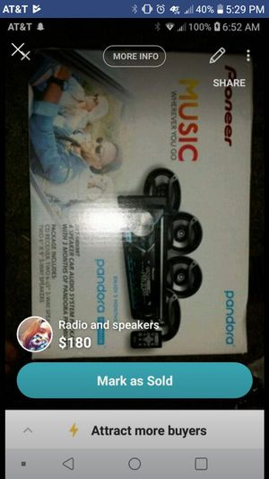 Car radio and speakers for Sale in Carthage, MO