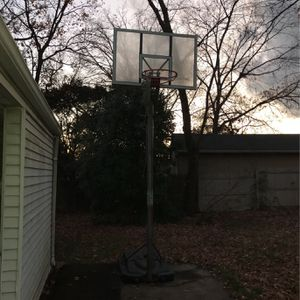 Basketball hoop Outdoor 10 foot adjustable NBA for Sale in Springfield, VA