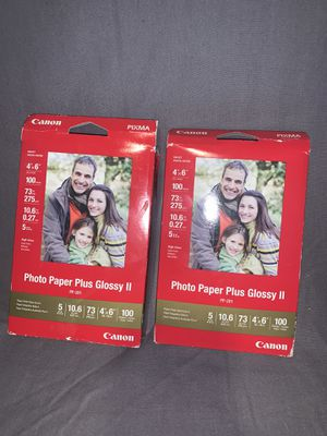 Canon Photo Paper Plus Glossy II 4 x 6 pp-201 100 sheets 2 packs for Sale in Copperton, UT
