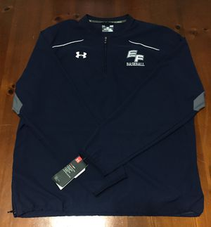 💯 AUTHENTIC UNDER ARMOUR PULL OVER WARM UP BASEBALL 1/2 ZIP JACKET SHIRT SIZE LARGE NEW WITH TAGS Supreme Deal!!!! $15 All Season Gear for Sale in Raleigh, NC