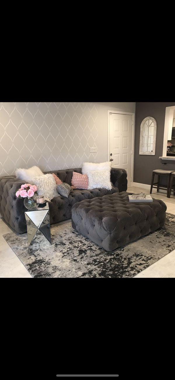 Tuft Sofa and Ottoman
