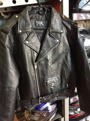 New leather old school classic motorcycle jacket $140 for Sale in Norwalk, CA