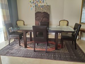 Glass/Wooden Dining Table for Sale in Oakland Park, FL