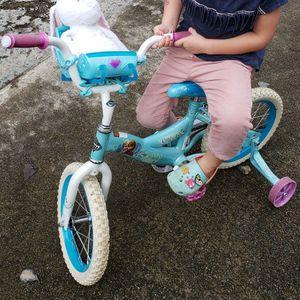 Girls 14 Inch Frozen Huffy Bike With Sleigh for Sale in Alpharetta, GA