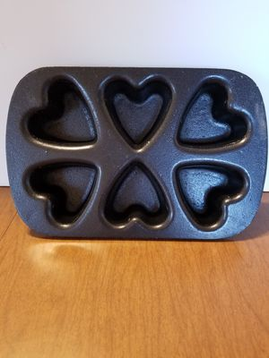 Nordic ware cast iron Heart shaped biscuit pan for Sale in Cranston, RI