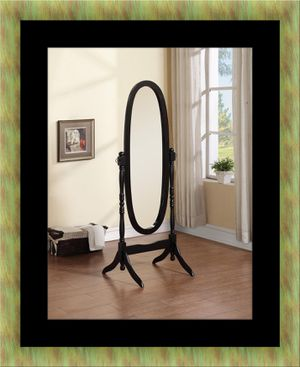 Black swivel oval mirror for Sale in Fairfax, VA