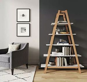 Carlie 5-shelf Ladder bookcase for Sale in Ontario, CA