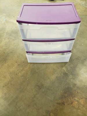 3 drawer plastic for Sale in Dallas, TX