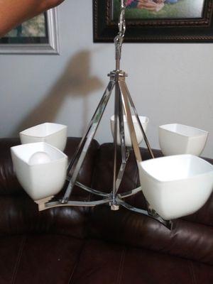 Hampton Bay 5 lights polished nickel chandelier. for Sale in Mesquite, TX