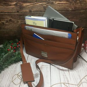 Handmade Leather Briefcase | Stylish Leather Briefcase | Full Grain Leather Briefcase | Briefcase Bag for Sale in St. Joseph, MI