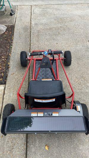 MotoTec 24v Solar Electric Go Kart red excellent condition for Sale in Virginia Beach, VA