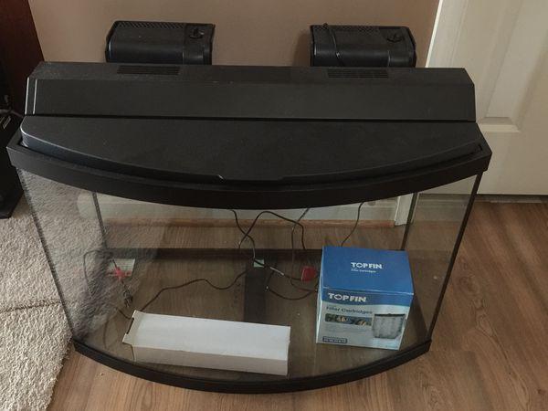 Aqueon 39 Gallon Bow Front Glass Aquarium