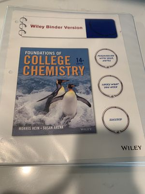 Foundations of College Chemistry 14th E loose leaf in a binder for Sale in Tacoma, WA