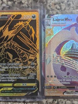 Shining Fates Cards Lapras Vmax Eternatus V Pokemon Trade For Yu-gi-oh for Sale in Sylmar, CA