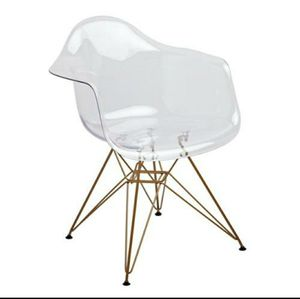 4 Clear Armchairs with gold legs for Sale in Tigard, OR