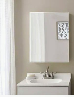 New in box Style Selections20-in x 26-in Rectangle Surface Mirrored Medicine Cabinet for Sale in Las Vegas, NV