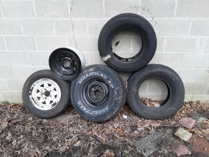 Trailer tires and rims...and car or truck tires for Sale in Pennsville, NJ