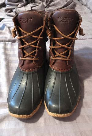 Brown/leather Sperry duckboots. Women's 12 or Men's 10.5. for Sale in Nashville, TN