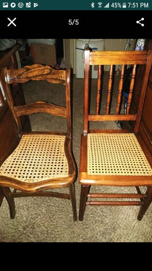 2 antique cane wicker chairs for Sale in Boston, MA