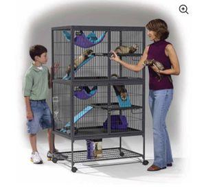 "Midwest Deluxe Ferret Nation Double Unit Ferret Cage (Model 182) Includes 2 leak-Proof Pans, 2 Shelves, 3 Ramps w/ Ramp Covers, Measures 36""L x 25""W for Sale in Mount Laurel Township, NJ"