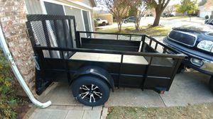 Heavy duty trailer solid steel floor plus wood for Sale in Arlington, TX
