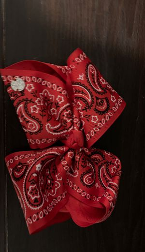 Red white and black jojo siwa bow for Sale in Hialeah, FL