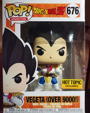 Official Funko Dragon Ball Z Pop! Animation Vegeta (Over 9000) Vinyl Figure Hot Topic Exclusive for Sale in Miami, FL