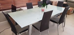 Frosted Contemporary Glass Table w/ Chairs for Sale in Chandler, AZ