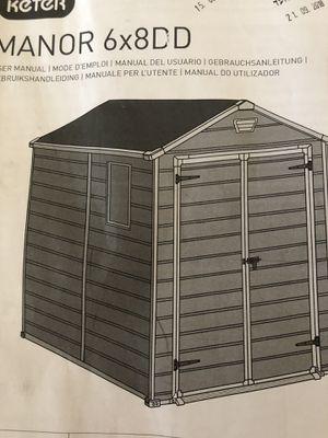 Meter manor 6x8 DD shed for Sale in Casa Grande, AZ