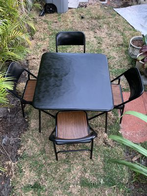 Metal card table with four chairs for Sale in Boca Raton, FL