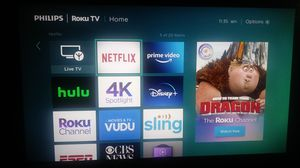 55 inch phillip tv for Sale in Riverdale, GA