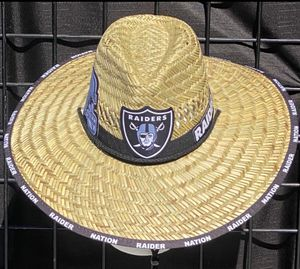 Raiders straw hat just N time 4 the summer heat (I also have other teams) for Sale in McClellan Park, CA