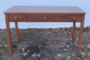 Wood 3 Drawer Desk Foyer Entryway Console Table for Sale in Chapel Hill, NC