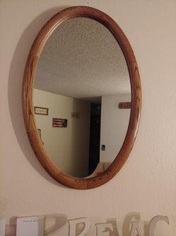 Oak framed mirror for Sale in Tacoma,  WA