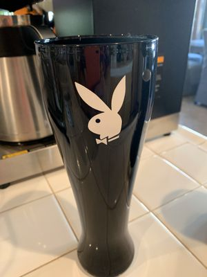 Playboy Collection... Tall BLK Glass for Sale in Rancho Cucamonga, CA