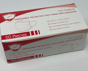 Disposable Face Mask - 3Ply (Case of 40 Boxes) for Sale in Windermere,  FL