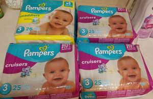 Pampers size 3 $6 each for Sale in Winter Haven, FL