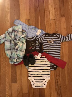 75 piece 3 month baby boy wardrobe/clothing bundle/clothes/shoes/swaddle for Sale in Murrysville, PA